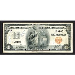 Banco Central de la Republica Dominicana. 1956-58 ND Issue.