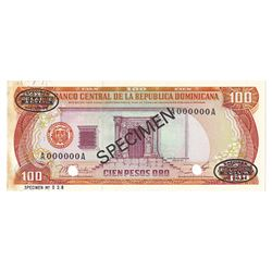 Banco Central de la Republica Dominicana, 1977, Specimen Banknote
