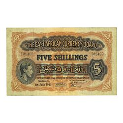 East African Currency Board, 1941, Issued Banknote with Unlisted Date