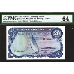 East African Currency Board. 1964 ND Issue.