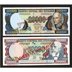 Banco Central del Ecuador, 1995 Issue.