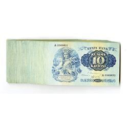Eesti Pank, 1937 Uncirculated Pack of 100 Notes.