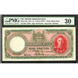 Government of Fiji, 1941, Issued Note