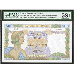 Banque de France, 1942 Issue Banknote.