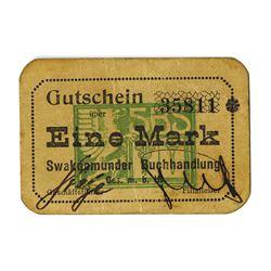 Swakopmunder Buchhandlung, 1916-1918, Issued Note