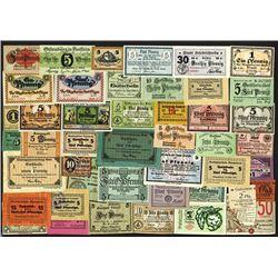 Notgeld issues, 1917-1920 Banknote Assortment.
