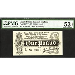 Treasury Note, ND (1914), Almost Uncirculated King George V Issued Note