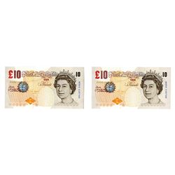 Bank of England, 2002-12, Issued Error £10 Consecutive Pair