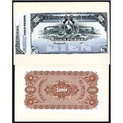 Banco De Guatemala Banknote ca.1900 Proof Banknote.