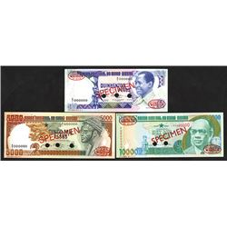 Banco Nacional da Guine-Bissau, 1983-1993, Trio of Specimen Notes