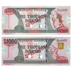 Bank of Guyana, 1996-2000, Pair of TDLR Specimens