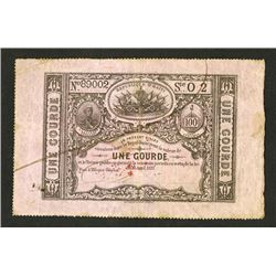 Republique D'Haiti, Lou du 16 Avril 1827 Sixth Issue.