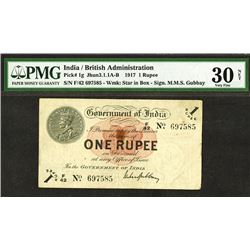 Government of India / British Administration. 1917 Issue.