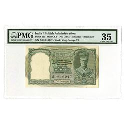 Reserve Bank of India, ND (1943), Issued Banknote