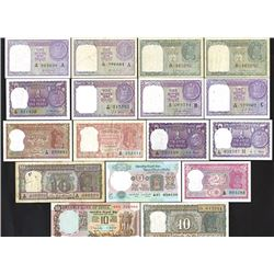 Government and Reserve Bank of India, 1940s-70s, Group of 17 Issued Notes