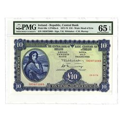 Central Bank of Ireland, 1974, Issued Gem Uncirculated Banknote