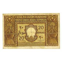 Cassa per la Circolazione Monetaria della Somalia, 1950, Issued Banknote