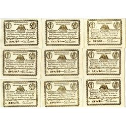 Repubblica Romana, 1798, Lot of 9 Notes