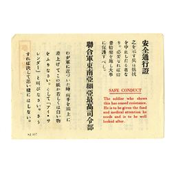 Korean War Safe Conduct Pass, ca. 1950s