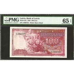 Latvijas Bankas, 1939 Issue Banknote.