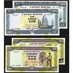 Banco Nacional Ultramarino - Macau. 1992, 1999 Issues.