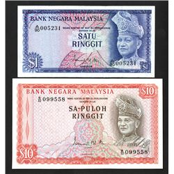 Bank Negara Malaysia, 1967, Pair of Issued Notes