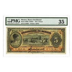 Banco Occidental, 1913, Issued Banknote