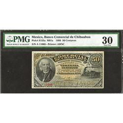 Comercial De Chihuahua, 1889 Banknote.