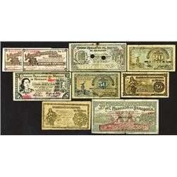 Wide range selection of Mexican Revolutionary era issuers. 1914-15.