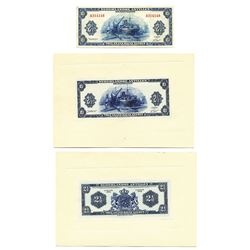 Dutch Administration, 1955, Proof and Issued Note Set