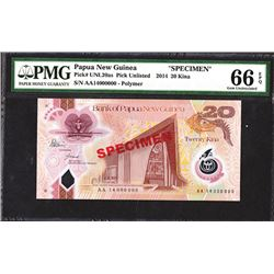 Bank of Papua New Guinea. 2014 Issue Specimen.