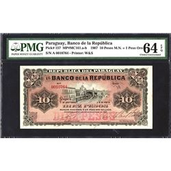 Banco De La Republica, 1907 Issue.