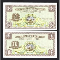 "Central Bank of the Philippines, 1949 ""Jeffries BNC"" Essay Specimen Banknote Pair."