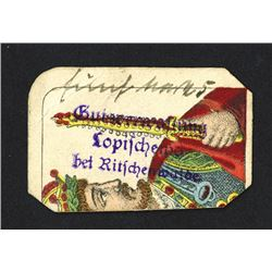 _opiszewie Estate Management, c. 1914, Rare 5 Mark Scrip Note