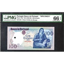 Banco de Portugal. Ch. 8. 1980 ND Issue.