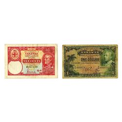 Government of Sarawak. 1935 & 1940 Banknote Issue Pair.