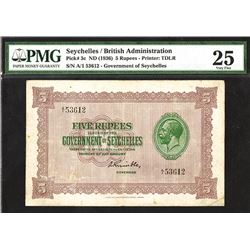 Government of Seychelles, 1936, Issued Banknote