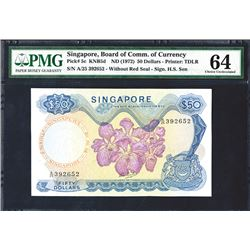 Singapore, Board of Commissioner of Currency, ND (1972) Issue Banknote.