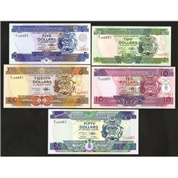 Solomon Islands, 1996; 1997 ND Issue Set with Matching Serial Numbers.