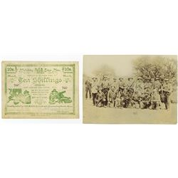 Boer War - Siege of Mafeking, 1900 Issue Banknote Plus Original Photograph of Boer Guerrilla Fighter
