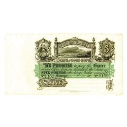 Montagu Bank, 1860's Private Banknote.