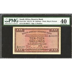 South African Reserve Bank, 1940 Issue Banknote.