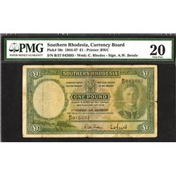 Southern Rhodesia Currency Board, 1945, Issued Banknote