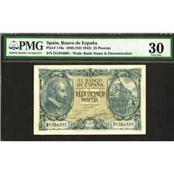 Banco de Espana. 1940 Issue.