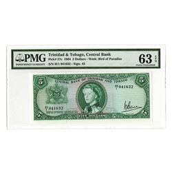 Central Bank of Trinidad and Tobago, 1964, Issued Choice Uncirculated Banknote