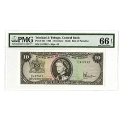 Central Bank of Trinidad and Tobago, 1964, Issued Gem Uncirculated Banknote