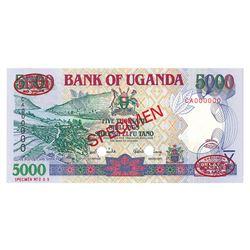 Bank of Uganda, 2000, Specimen Banknote