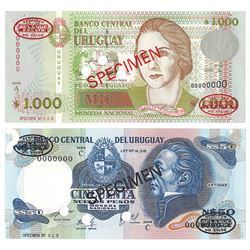 Banco Central del Uruguay, 1995, Specimen Banknote
