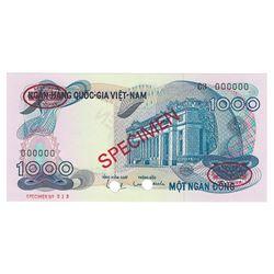 National Bank of Viet Nam, 1971, Specimen Banknote