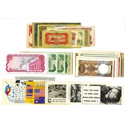 Vietnam, Various Issuers, 1940s-1970s, Group of 45+ Banknotes, Safe Conduct Passes, and Other Notes